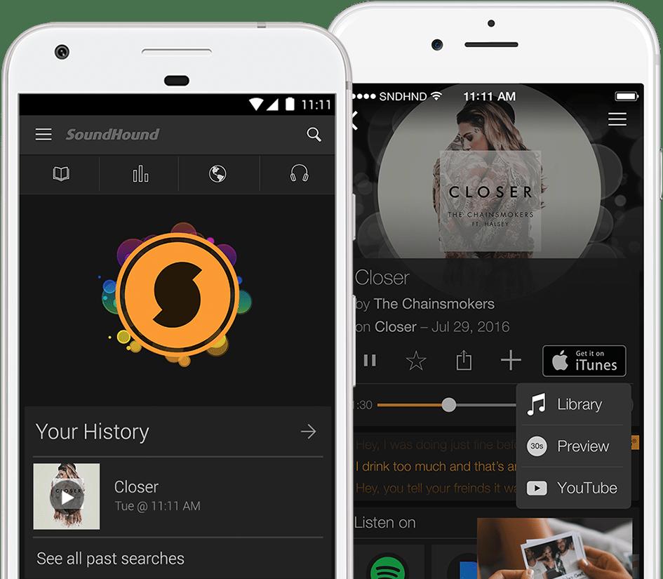 Tìm kiếm bài hát qua ứng dụng Soundhound