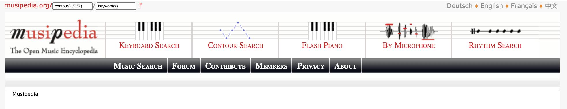 tìm nhạc qua website tìm kiếm phổ biến