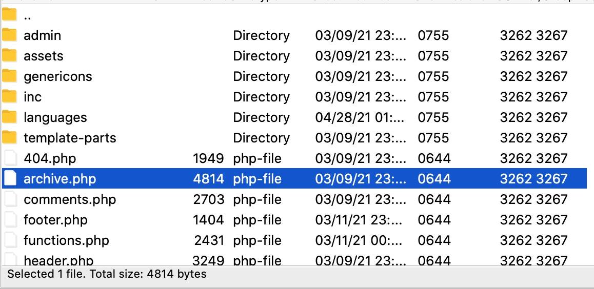 File Zilla cho quản lý hệ thống code wordpress