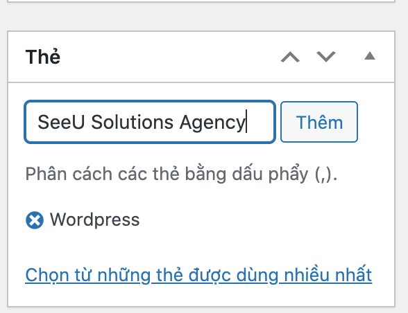 Tạo Tag thế nào trên bài viết WordPress?